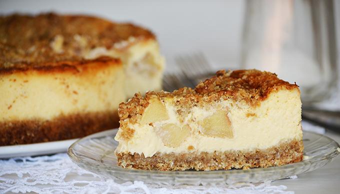 Jóság felsőfokon: Apple Crumble Cheesecake/Fotó: Myreille