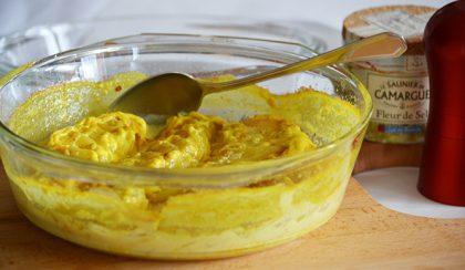 Gratin de pommes de terre au curry