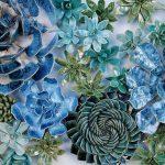 Porcelán virágoskert: pozsgások és dáliák