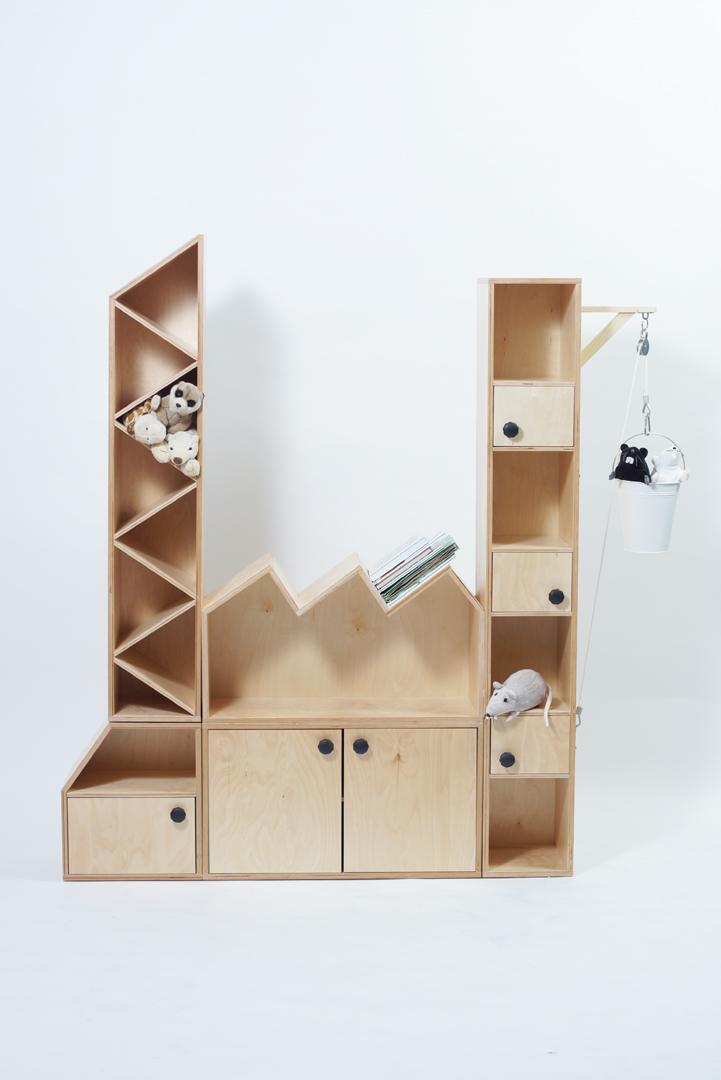 Fabrika, tároló rendszer/ tervező: Németh Dóra