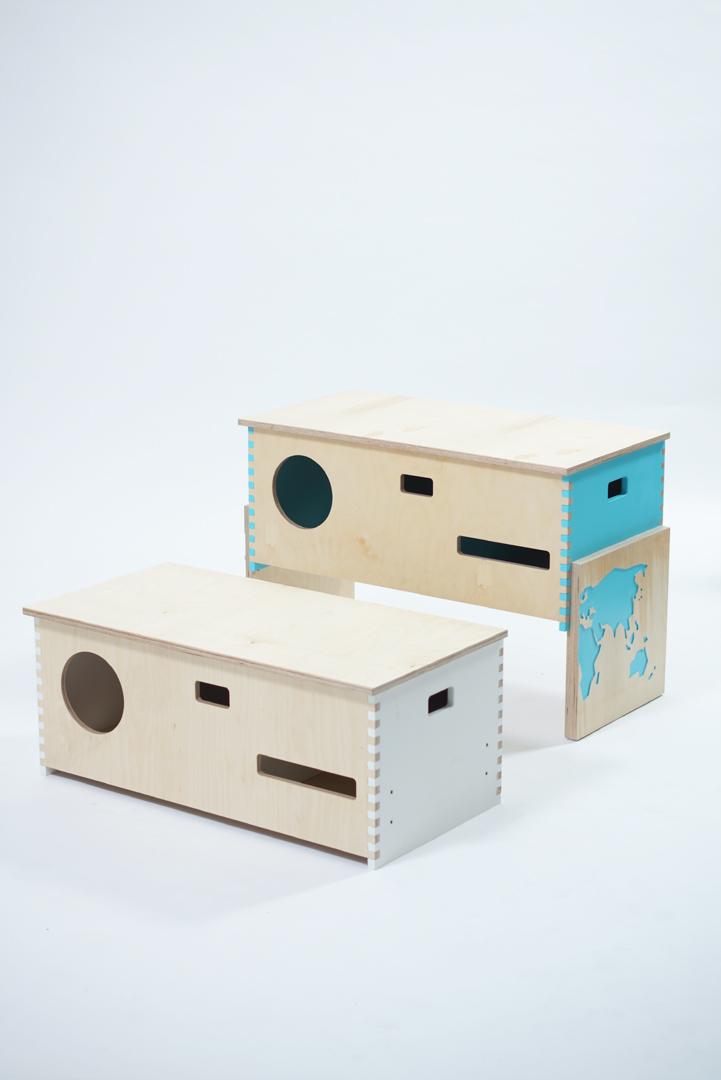 Lábika, multifunkcionális tároló bútor/ tervező: Santana Cadena Diána