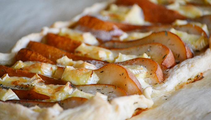 Körtés-brie sajtos pite kakukkfűvel/Fotó: Myreille