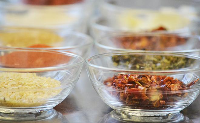 A szárított összetevők, amiből a chilis bab alap készül/Fotó: Myreille
