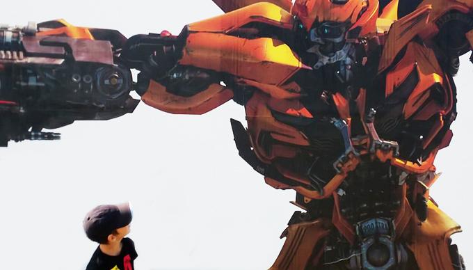 Majdnem valóságos találkozás a legkedvencebb Transformers-szel/Fotó: Myreille