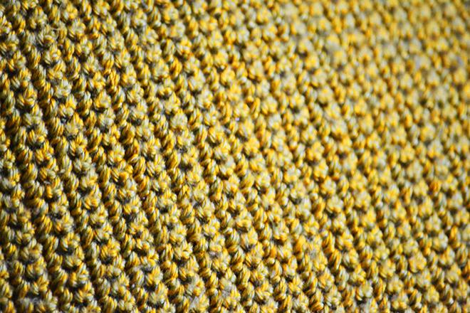 A párna hátulja csupa single crochet/Fotó: Myreille