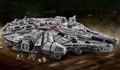 Itt a Lego legnagyobb készlete: a Millennium Falcon!
