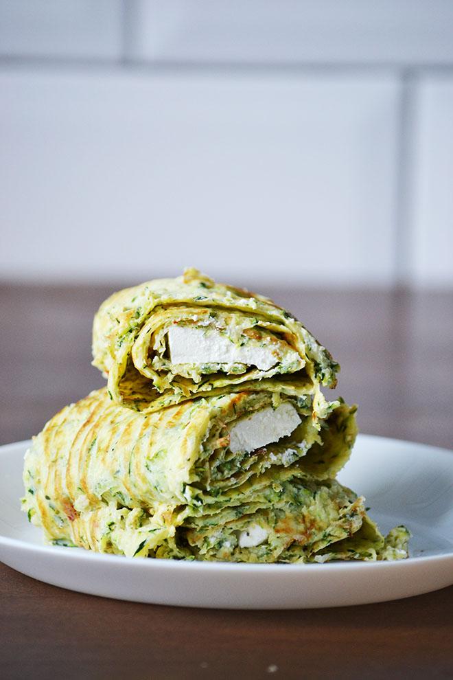 Cukkini tekercs krémfehér sajttal/Fotó: Myreille