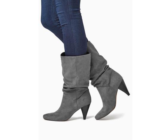 Next - Slouch Cone Heel Boots - 8,5 cm-es sarokkal