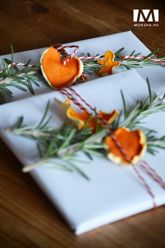 Karácsonyi dekoráció narancshéjból/Fotó: Myreille