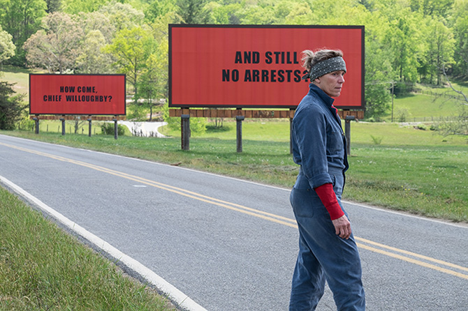 HÁROM ÓRIÁSPLAKÁT EBBING HATÁRÁBAN/THREE BILLBOARDS OUTSIDE EBBING, MISSOURI