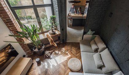 34 négyzetméteres, modern kislakás egy régi épületben