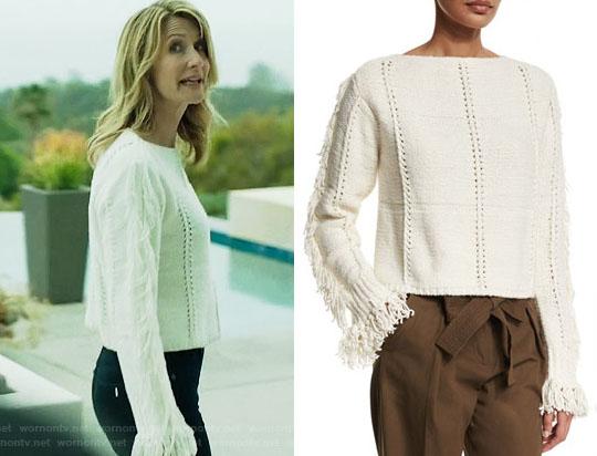 """A """"big little lies white sweater"""" keresőszóra ez volt az első találat. Úgy látszik, nem csak nekem tetszett meg. A kérdés, hogy tudok-e egy ilyet horgolni..."""