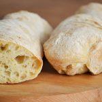 dagasztás nélküli kenyér - ciabatta