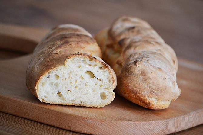 2. verzió dagasztás nélküli kenyérre: házi kenyér