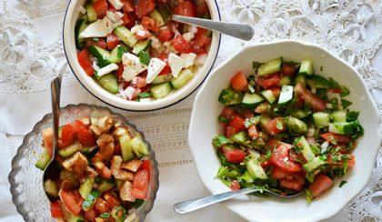 3+1 uborka-paradicsom-hagyma salátával a világ körül