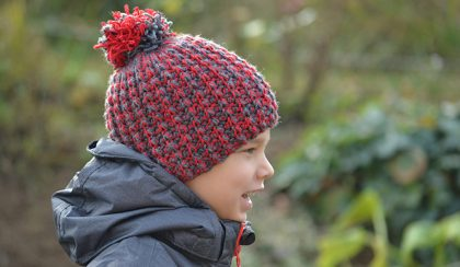 Anya-fia horgolt sapka (Simple Free Crochet Beanie Pattern)