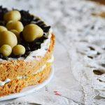 Mandulás-csokis-narancsos-ricottás torta