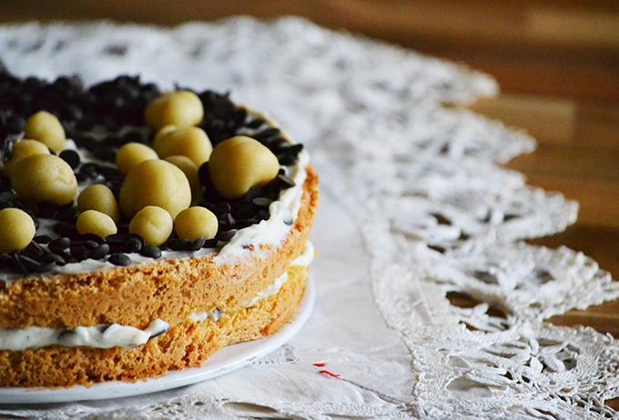Mandulás-csokis-narancsos-ricottás torta/Fotó: Myreille