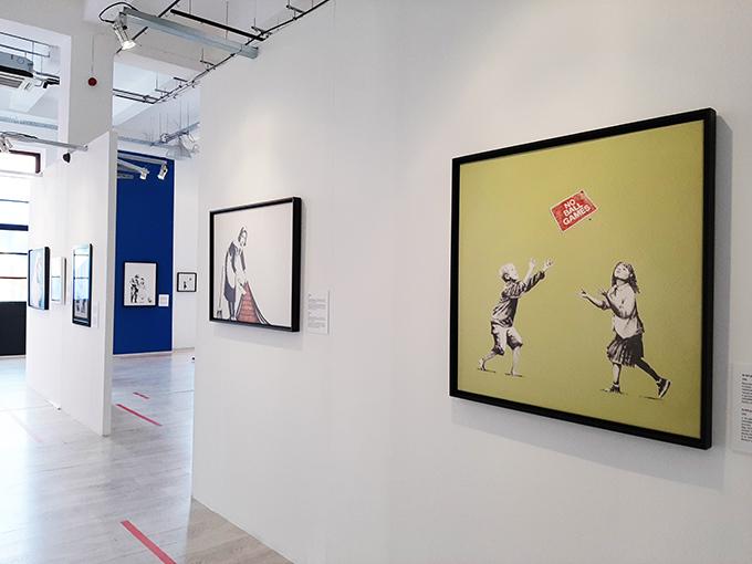 Budapesti Banksy kiállítás/Fotó: Myreille, 2020
