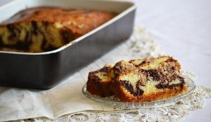 Vaníliás-kakaós, márványos süti. Egyszerűen ellenállhatatlan!