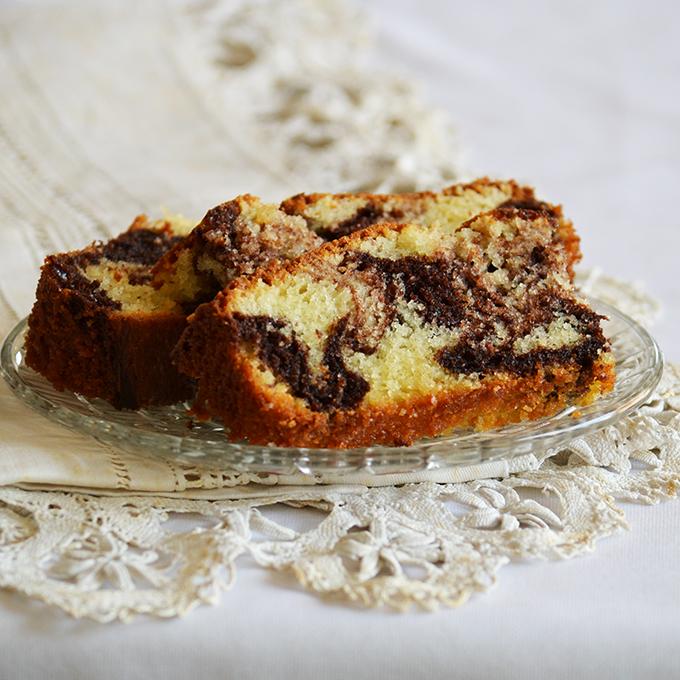 Vaníliás-kakaós márványos süti. Egyszerűen ellenállhatatlan!