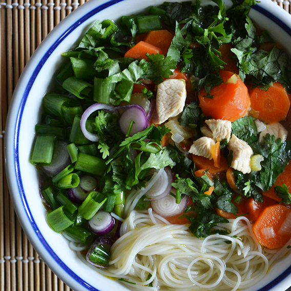 Pho leves csirkével, amikor a húsleves még egy fokkal finomabb/Fotó: Myreille