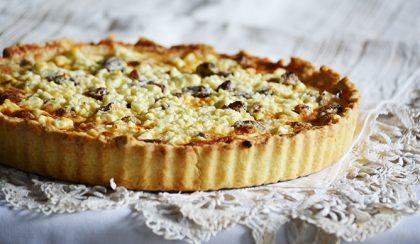 Mángoldos quiche hagymával és gouda sajttal