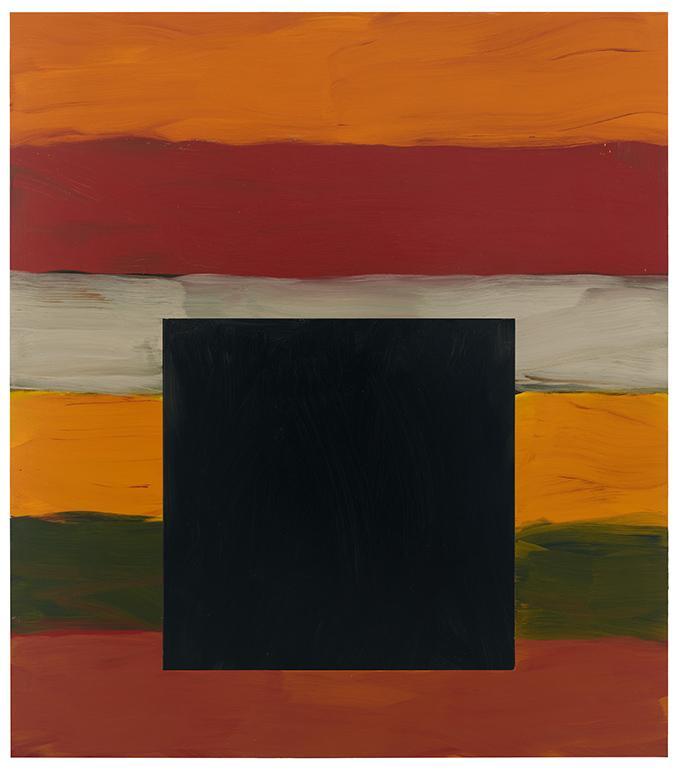 Sean Scully Fekete négyzet (Black Square), 2020 olaj, alumínium; 215,9 × 190,5 cm magángyűjtemény © Sean Scully. A művész engedélyével. Fotó: Elisabeth Bernstein