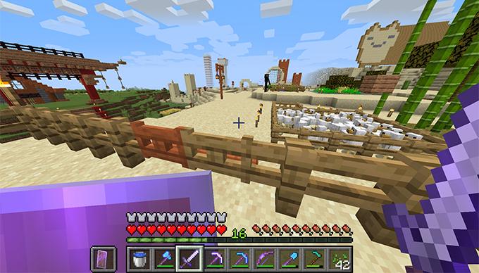 Minecraft - Enderman lopja a dinnyémet