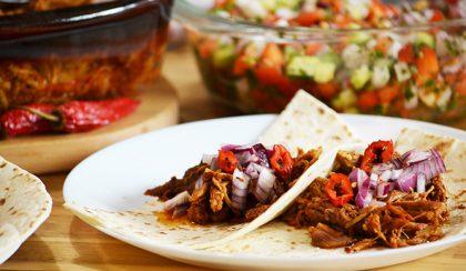 Cochinita Pibil taco és Achiote (Annatto) paszta