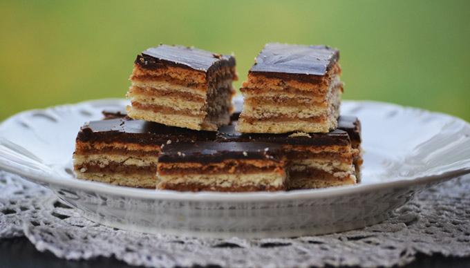 Family recipes: Gerbeaud slice (Zserbó szelet)/Photo: Myreille - moksha.hu