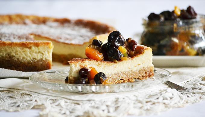 Karácsonyi cheesecake: tojáslikőrre hangolt cheesecake és házi készítésű Mincemeat/Fotót: Myreille