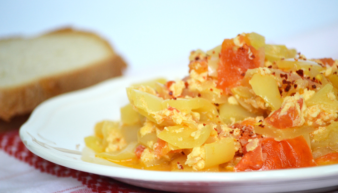 My favorite Hungarian lecsó with egg (without meat)/Photo: Myreille