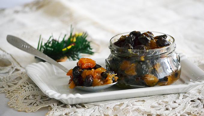 """Homemade Mincemeat, azaz karácsonyi """"lekvár"""" asztalt gyümölcsökkel"""