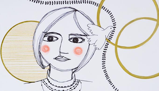 Illusztráció: Kucsera Éva Myreille: The Peasant's Wise Daughter, 2021.