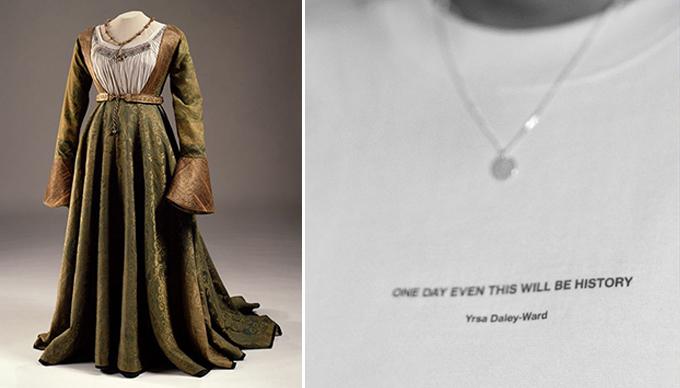 Két női ruha, amelyeket között 500 év a különbség.