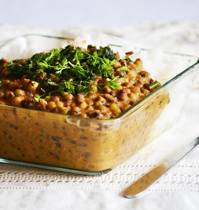 Kókusztejes mungóbab curry garam masalával/Fotó: Myreille