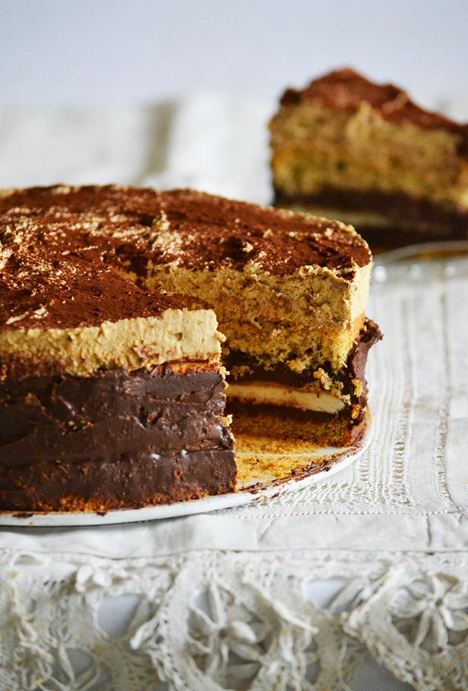A híres E80 torta házi változata ez a csokoládé-kávé-marcipán torta/Fotó: Myreille