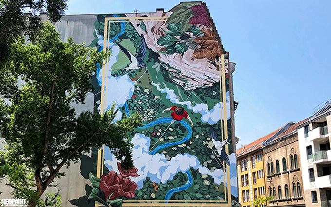Falfestmény a Dob utcában/Fotó: Neopaint