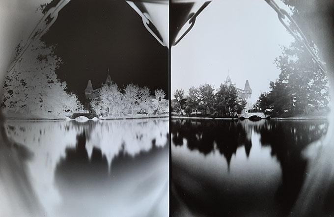 Camera Obscurával készült képek. Negatív és pozitív/Fotó: Myrreille, 2021.